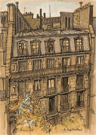 die fassade von 7 rue rachel 2 others smllr 3 works by franz fedier