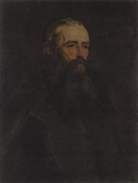 portrait des prä-raphaeliten frederick george stephens by william henry fisk