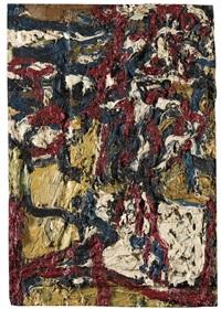 j.y.m. in the studio ii by frank auerbach