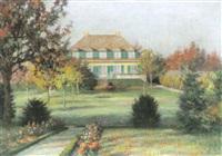 blick auf malerisches privathaus in nonnenhorn by franz löffler