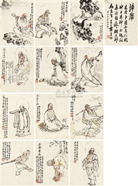 buddha (13 works) by tan jiancheng