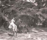 reiter im tiergarten by georg lebrecht