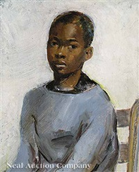 portrait of african american boy by hilah mary wheeler remaily