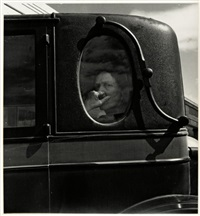 funeral cortège - end of an era in a small valley town by dorothea lange