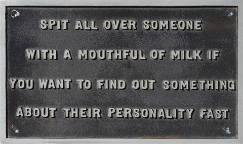 selection spit all over someone from the survival series by jenny holzer