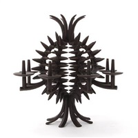 pineapple-shaped candelabra by jens quistgaard