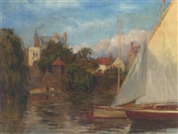 on the thames at twickenham by john seymour lucas