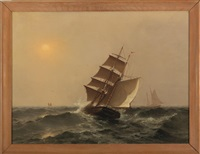 sailing into the sun by william formby halsall