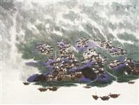 landscape by jiang zhenguo