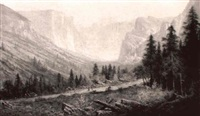 view of yosemite by william weaver armstrong
