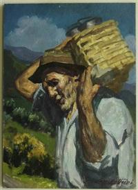 ritratto di uomo con gerla by gianfranco campestrini