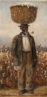 male cotton picker; female cotton picker (2 works) by william aiken walker