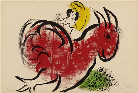 le coq rouge by marc chagall