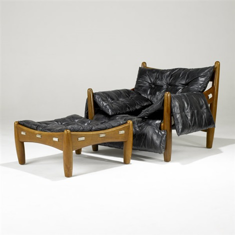 sheriff chair (+ ottoman; 2 pieces) by sergio rodrigues & Sheriff chair Ottoman 2 pieces by Sergio Rodrigues on artnet