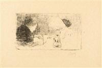 la partie de cartes sous la lampe by pierre bonnard