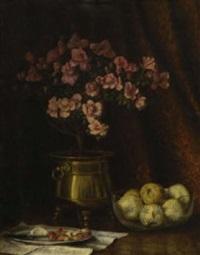 stillleben mit azalee und birnen by helena christina van de pavord smits