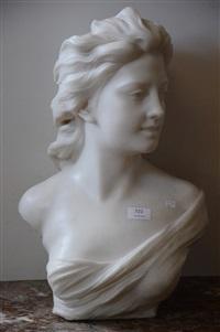 buste de jeune femme by jef lambeaux