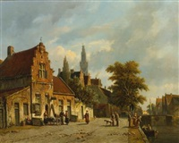 a town in holland by adrianus eversen