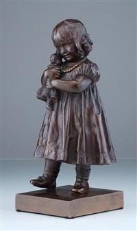 maria mit puppe (die tochter des künstlers) by rudolph hölbe