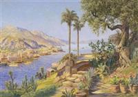 coastal landscape, southern italy by gottfried arnegger