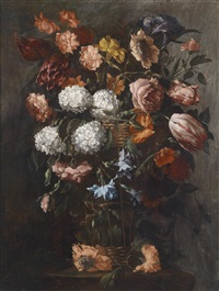 blumenstillleben (+ another; pair) by juan de arellano