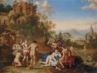 diana und ihre nymphen entdecken die schwangerschaft callistos by johan van haensbergen