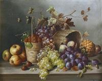 stillleben mit früchten by p. lanzoni