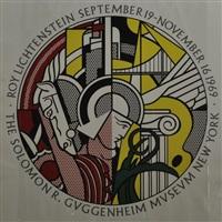 ausstellungsplakat roy lichtenstein - the solomon r. guggenheim museum new york 1969 by roy lichtenstein