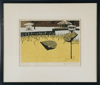 a lotus garden in winter by junichiro sekino