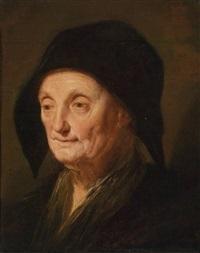 porträt einer alten dame by jacques des rousseaux