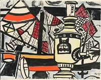 le phare. composition with ship by fernand léger