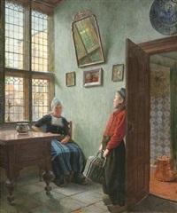 niederländisches interieur by ernst wilhelm müller-schönefeld