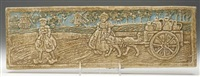 dutch boy and girl with dog-drawn carriage tile by batchelder tiles