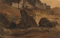 felsige landschaft by ludwig heinrich theodor (louis) gurlitt
