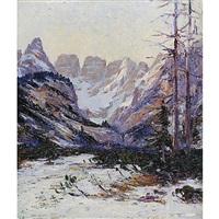 ultima neve sul monte cristallo by pio solero