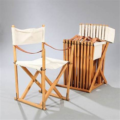 Tremendous Foldable Chairs With Matching Holder Set Of 7 By Mogens Koch Pdpeps Interior Chair Design Pdpepsorg
