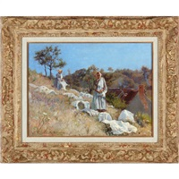 washerwomen in provence by adolphe ernest gumery