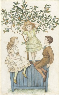 the orange tree (+ the apple tree; 2 works) by kate greenaway