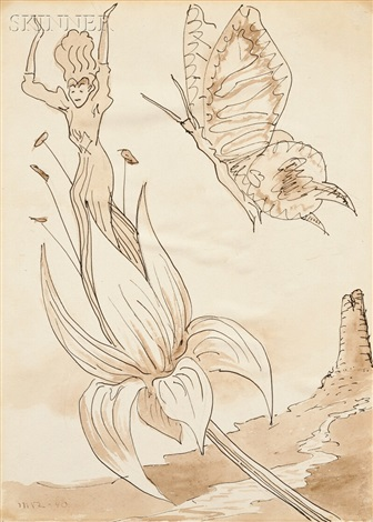 untitled angel and butterfly by man ray