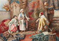the carpet seller by umberto cacciarelli