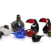 nine coloured birds (set of 9) by oiva toikka
