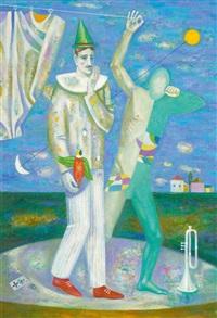 blauer clown by alexander pawlovich perepelitsyn
