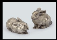 rabbit (+ another, smllr; 2 works) by nobuo tsuda