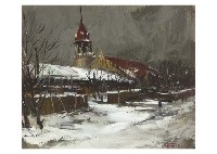 landscape in the church by yotsuo kasai