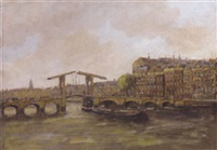the skinny bridge, amsterdam by hendrik cornelis kranenburg