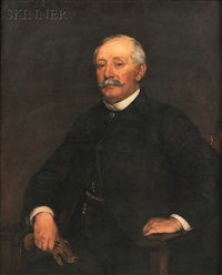 portrait of augustus flagg by frederick porter vinton