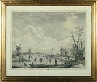vue de santvliet village de hollande by jacques philippe le bas