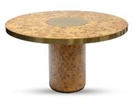 tavolo da pranzo impiallacciato by willy rizzo
