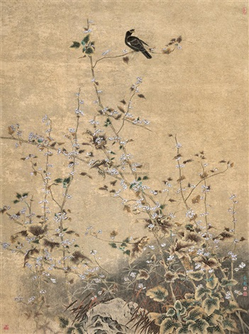 最爱黄花晚节香 (flower and bird) by ma weichao