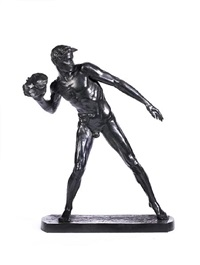 an athlete putting the stone by sir william hamo thornycroft